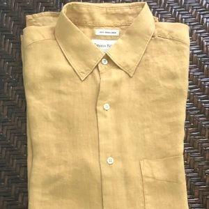 "Banana Republic Irish Linen Men's Shirt Size ""M"""